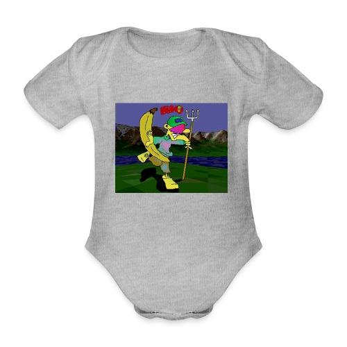 Bruno II - Økologisk kortermet baby-body