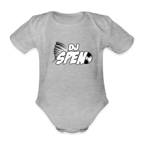 DJ Spen Long Logo - Organic Short-sleeved Baby Bodysuit