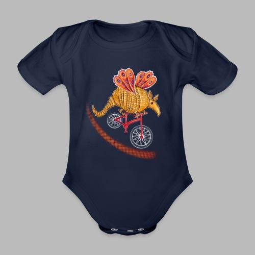 Flying Armadillo - Organic Short-sleeved Baby Bodysuit
