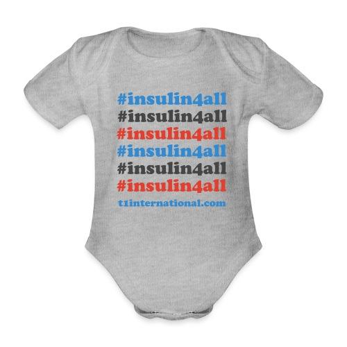 #insulin4all - Organic Short-sleeved Baby Bodysuit