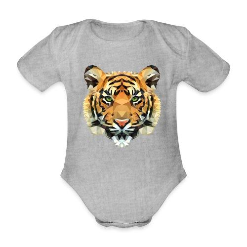 Tiger Polygon wild schwanger Geschenk Babybauch - Baby Bio-Kurzarm-Body