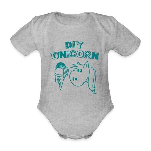 DIY Unicorn Einhorn - Baby Bio-Kurzarm-Body