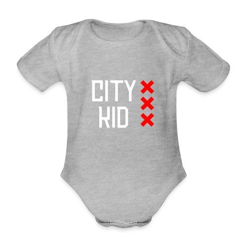 City kid - Baby bio-rompertje met korte mouwen