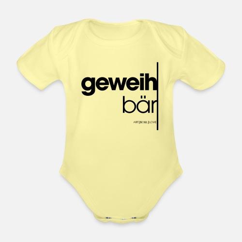 geweihbär 2019 - Baby Bio-Kurzarm-Body