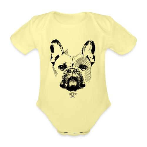 Französische Bulldogge Sketch - Baby Bio-Kurzarm-Body