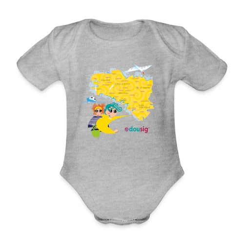 Carte de la Bretagne Dousig - Body Bébé bio manches courtes