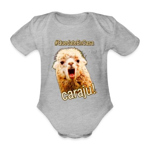 Quedate En Casa Caraju - Organic Short-sleeved Baby Bodysuit