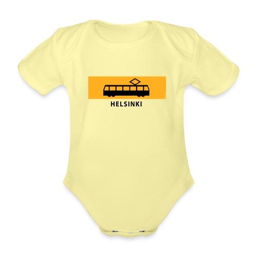 RATIKKA PYSÄKKI HELSINKI T-paidat ja lahjatuotteet - Vauvan lyhythihainen luomu-body