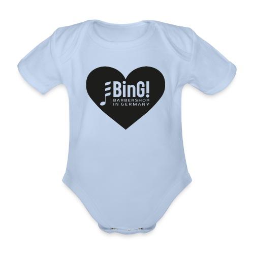 BinG Heart - Baby Bio-Kurzarm-Body