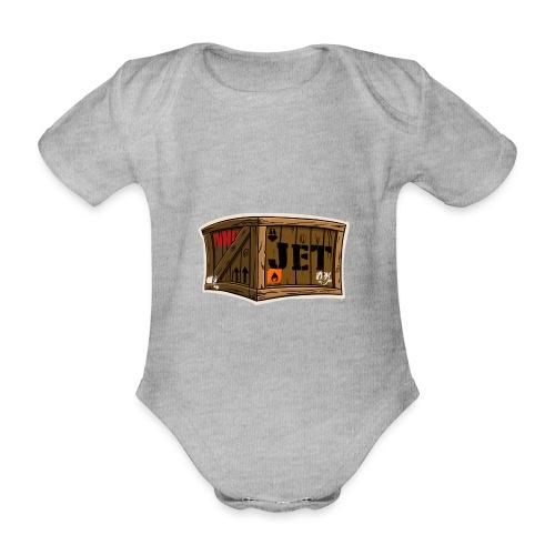 Jet Cartoon Wood Box - Baby Bio-Kurzarm-Body