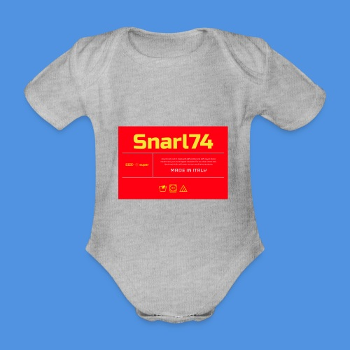 Etichetta two - Body ecologico per neonato a manica corta