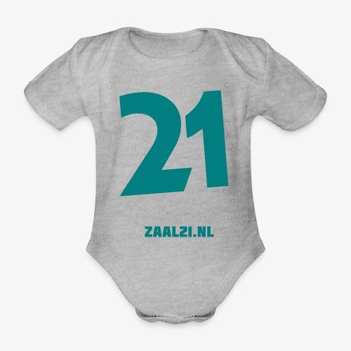 zaal-achterkant - Baby bio-rompertje met korte mouwen