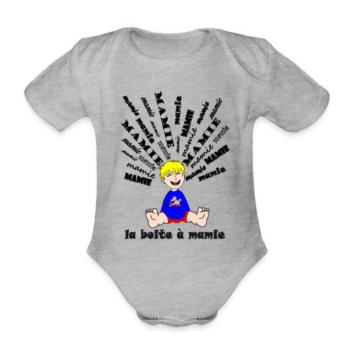 tee shirt mamie body boite à mamie cool déchire - Body Bébé bio manches courtes