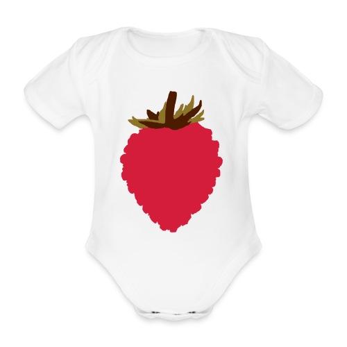 Wild Strawberry - Organic Short-sleeved Baby Bodysuit