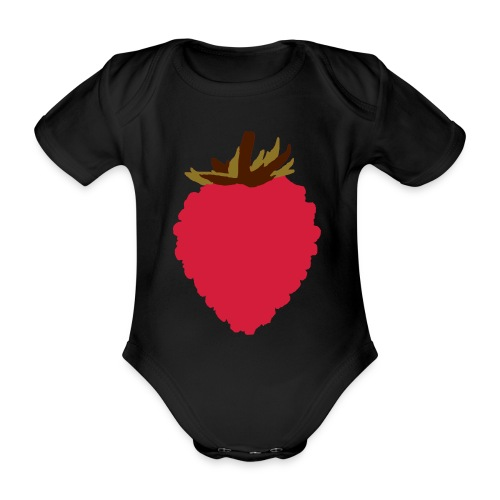 Wild Strawberry - Organic Short-sleeved Baby Bodysuit