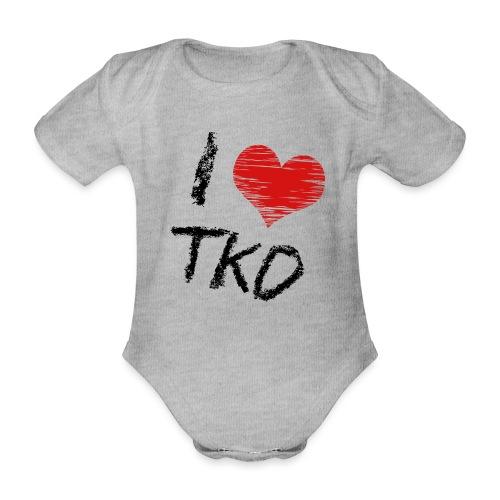 I love tkd letras negras - Body orgánico de maga corta para bebé