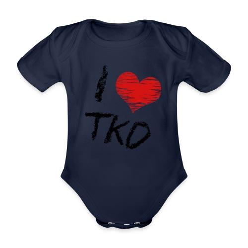 I love tkd letras negras - Body orgánico de manga corta para bebé