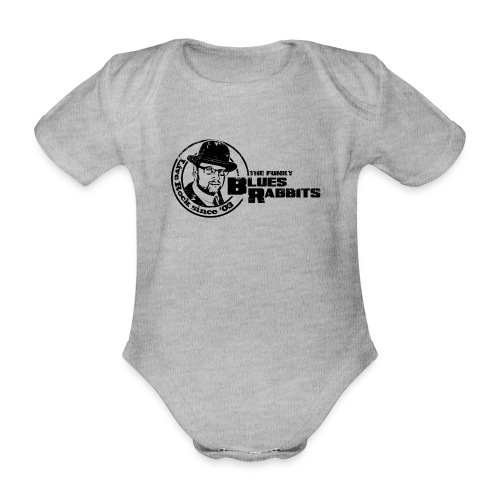 The Funky Blues Rabbits Logo - Baby Bio-Kurzarm-Body