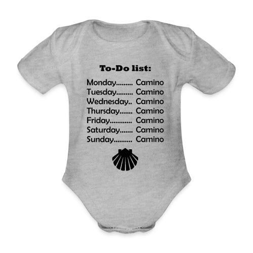 To-do list: Camino - Kortærmet babybody, økologisk bomuld