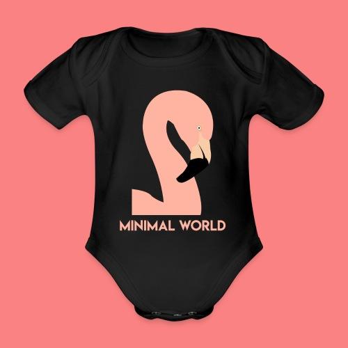 FLAMINGO - Body ecologico per neonato a manica corta