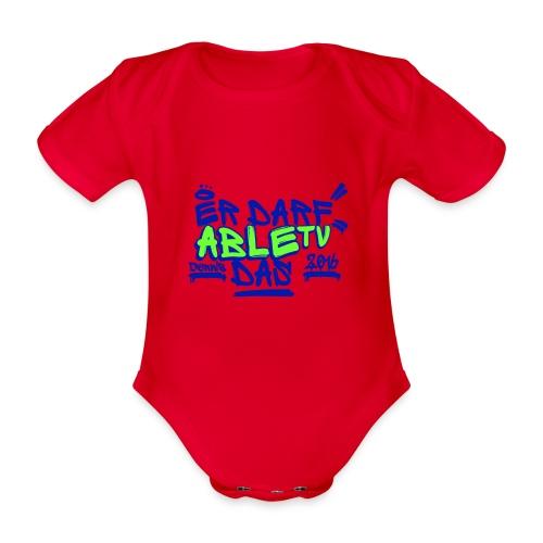AbleTV Grafitti Logo Marken Shirt (Er Darf Das) - Baby Bio-Kurzarm-Body
