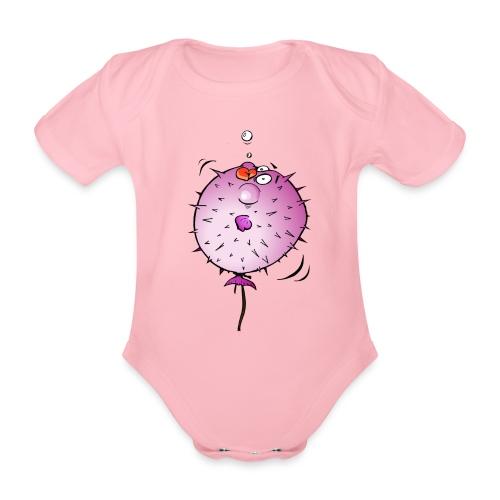 Blaasvis - Baby bio-rompertje met korte mouwen