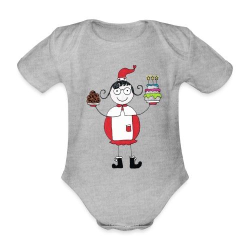Mamma Natale di Nonna Catia - Body ecologico per neonato a manica corta