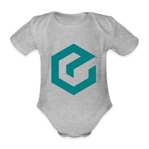 Elate logo - Økologisk kortermet baby-body
