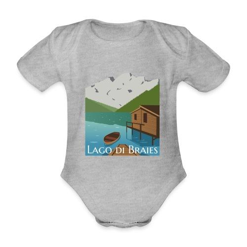 Illustrazione Lago di Braies - Body ecologico per neonato a manica corta
