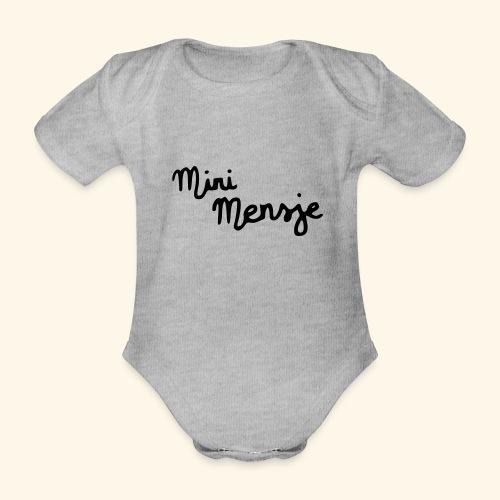 Mi-ni Mensje - Baby bio-rompertje met korte mouwen
