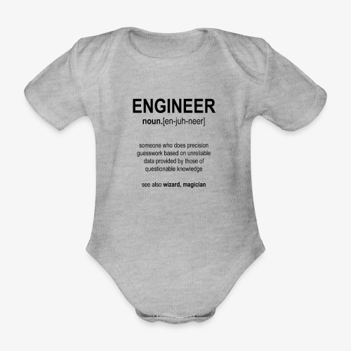Engineer Def. 1 (Black) - Body Bébé bio manches courtes