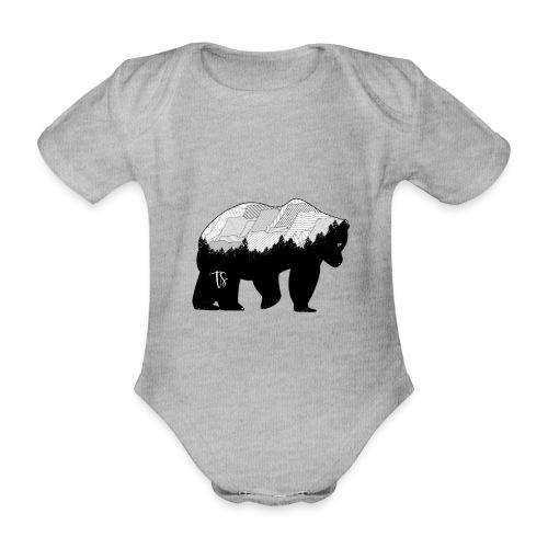 Geometric Mountain Bear - Body ecologico per neonato a manica corta