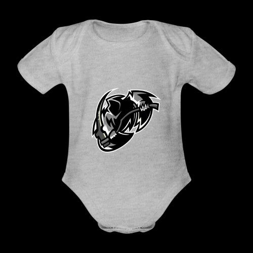 tsrschwarz weis - Baby Bio-Kurzarm-Body
