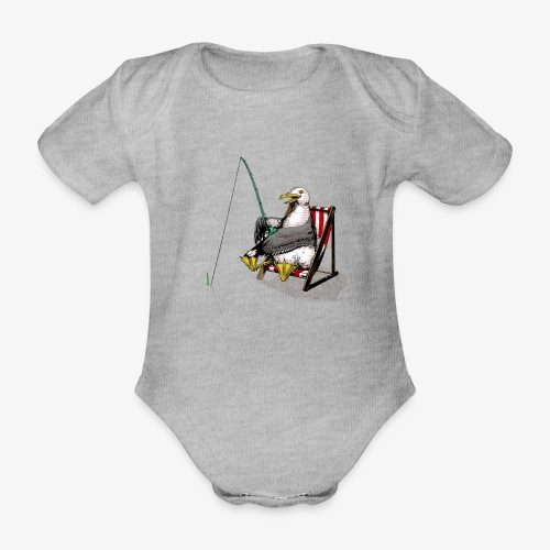 Seagull Fisher - Organic Short-sleeved Baby Bodysuit