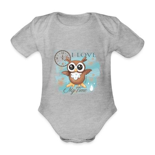 GUFO-E-TEMPO - Body ecologico per neonato a manica corta