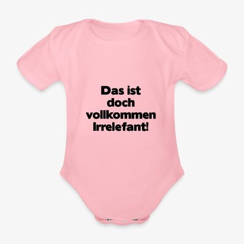 Irrelefant schwarz - Baby Bio-Kurzarm-Body