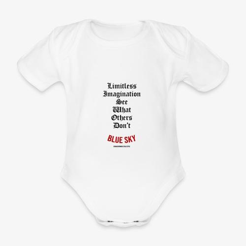 Limitless Imagination Zwart - Baby bio-rompertje met korte mouwen