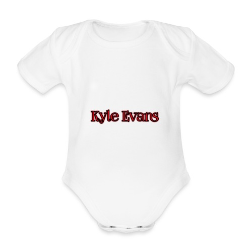 KYLE EVANS TEXT T-SHIRT - Organic Short-sleeved Baby Bodysuit
