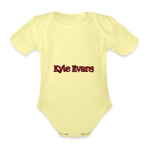 KYLE EVANS TEXT T-SHIRT - Organic Short-sleeved Baby Bodysuit