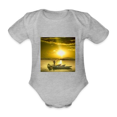 Tramonto - Body ecologico per neonato a manica corta