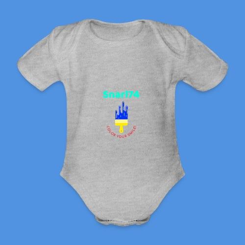 Paint - Body ecologico per neonato a manica corta