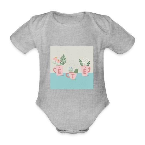 fleurs d'été - Body ecologico per neonato a manica corta