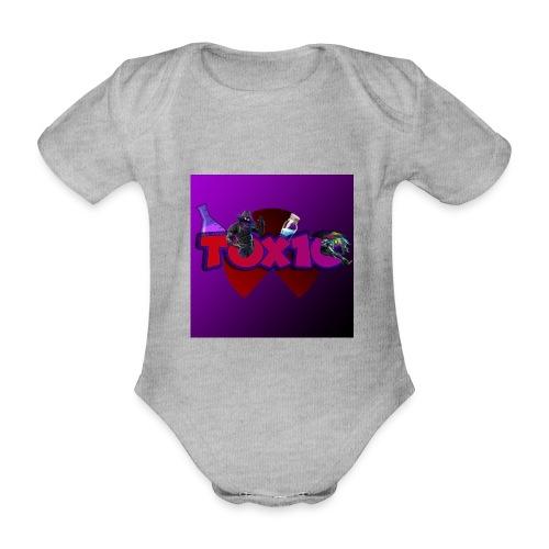 toxic paita - Vauvan lyhythihainen luomu-body