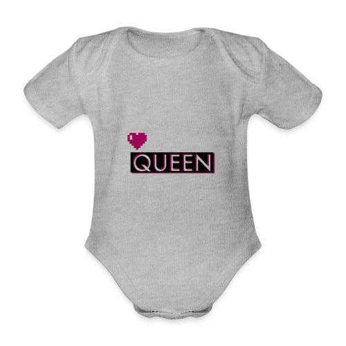 Queen, la regina - Body ecologico per neonato a manica corta