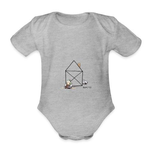 Stef 0003 00 Haus - Baby Bio-Kurzarm-Body