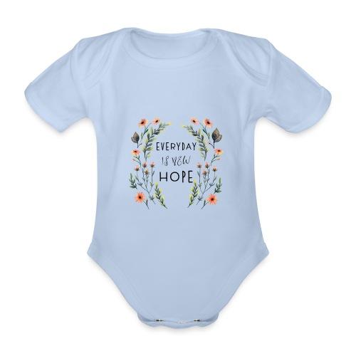 EVERY DAY NEW HOPE - Organic Short-sleeved Baby Bodysuit