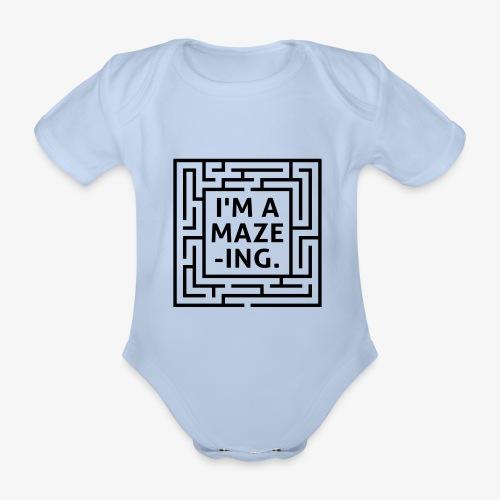 A maze -ING. Die Ingenieurs-Persönlichkeit. - Baby Bio-Kurzarm-Body