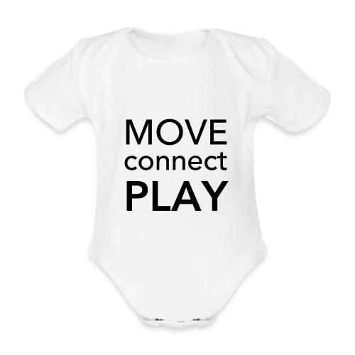 Move Connect Play - AcroYoga International - Organic Short-sleeved Baby Bodysuit