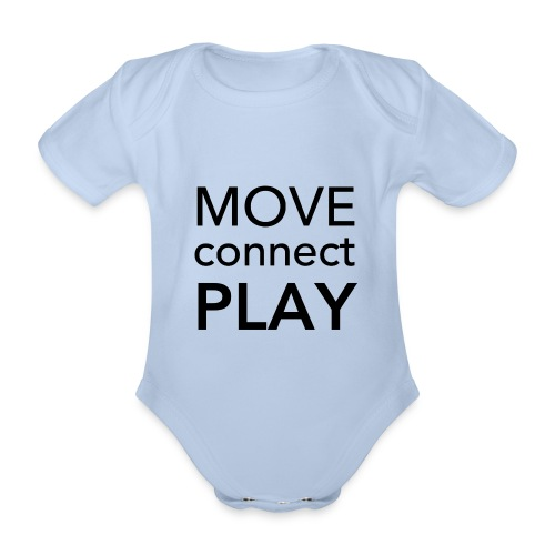 Move Connect Play - AcroYoga International - Organic Short-sleeved Baby Bodysuit