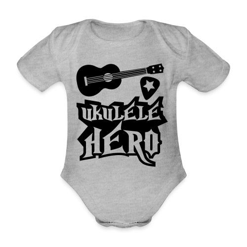 Ukelele Hero - Organic Short-sleeved Baby Bodysuit